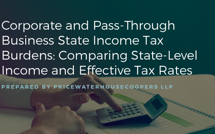 Cost council on state taxation featurecorporate and pass through business state income tax burdens comparing state level income and effective tax rates october 19 2017 sciox Choice Image
